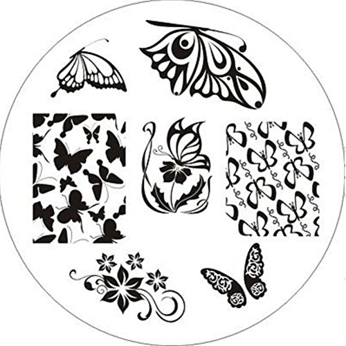 Just Fox – Tampon Nail Art Oiseau Papillon Butterfly Fashion Template