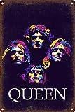 Queen Rock Póster de Pared Metal Creativo Placa Decorativa Cartel de Chapa Placas Vintage Decoración...