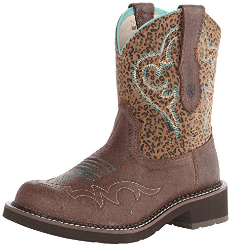 ARIAT Damen Fatbaby Collection Western Cowboystiefel, Knisterner Schacht/Mini Leopard, 37.5 EU