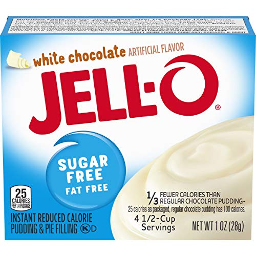 Jell-O Instant White Chocolate Sugar-Free Fat Free Pudding & Pie Filling Mix (1oz Boxes, Pack of 6)
