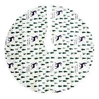 Dimensioni – Con un diametro di 47,24 pollici, questa gonna è perfetta per ogni albero di Natale. Design – Questa attraente gonna in feltro protegge la vostra casa da spille di pino e succo di albero. Decorazione – aggiunge la decorazione e nasconde ...