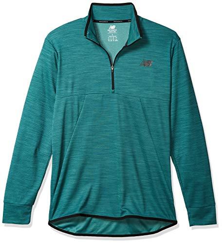 New Balance MT01088 Camiseta Deportiva para Hombre, Mirage Verde Heather, S