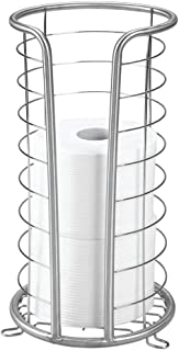 iDesign Forma Metal Free Standing Toilet Paper Tissue Holder, Roll Reserve Canister for Kids', Guest, Master, Office Bathroom, 7