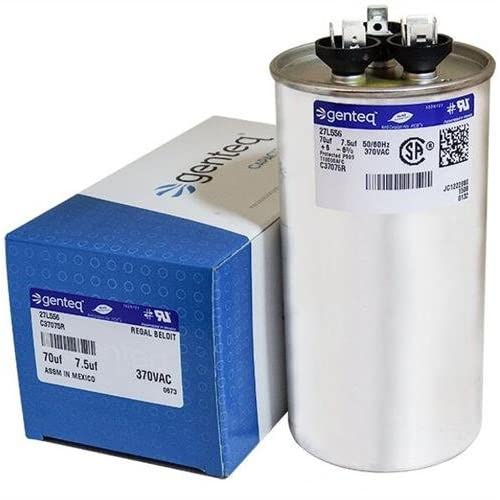 Dual Run Capacitor 70//7.5 mfd 370 V 440 V VAC Volt 70+7.5 uf AC Electric Motor HVAC