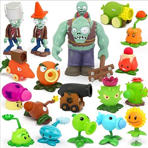 YUNDING Pflanzen Vs Zombies 18 Stück / Set Kinderspielzeug Für Kinder Action Spielzeug Figuren Pflanzen Gegen Zombies Spielzeug Lustiger Start Geburtstag