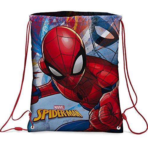 Star Marvel Spiderman Mochilas impresas a ambos lados, tamaño: 32,5 x 43 cm.