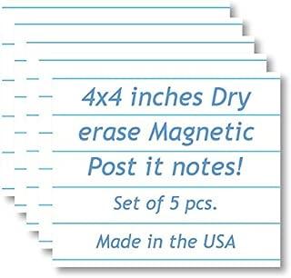 Magnetic Dry Erase Memo Sheets - Notepad/Writing Pad Design - 4
