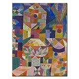 WANDKINGS Leinwandbild Burggarten von Paul Klee / 60 x 80