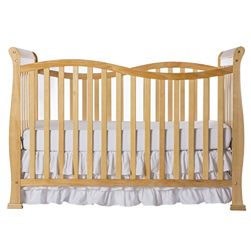 Dream On Me Violet 7 in 1 Convertible Life Style Crib in Natural, Greenguard Gold Certified
