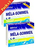 Govital - MELA-SOMMEIL Double Action: Endormissement et Sommeil de qualité - 2 Boites de 30 Gélules