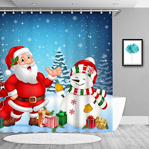 True Holiday Christmas Shower Curtain, Waterproof...