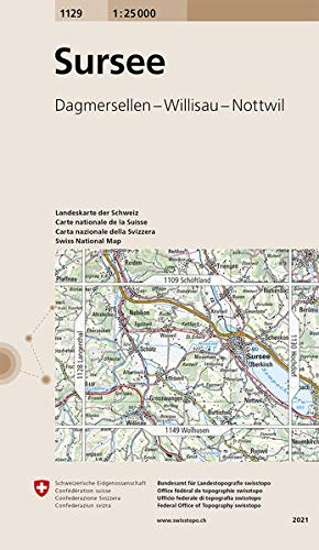 1129 Sursee: Dagmersellen - Willisau - Nottwil (Landeskarte 1:25 000)