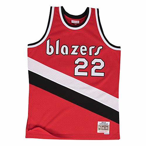 Mitchell & Ness Clyde Drexler Portland Trail Blazers Swingman Jersey Red (X-Large)
