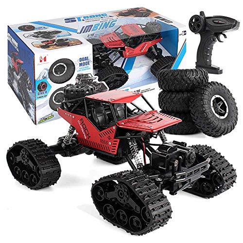 Weaston 1:16 Modelo de aleación Modelo de Control Remoto Neumático de rastreo 2 en 1 4WD Off-Road RC Vehículo Bigfoot Monster Climbing RC Truck 2.4G RC Coche Adulto Entrada-Nivel RC Coche
