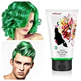 Fun Temporary Hair Color Wax Wash Out Hair Color for Cosplay Hair Dye Wax Hair Styling&Coloring Hair Wax for Halloween- Wash Off Easily - Fast Coloring on - Zero Damage to Hair (GREEN)