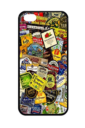 Bkstuff Cover Custodia TPU Birre Etichette STICKERBOMB per Vari Modelli (iPhone 5 5s SE)
