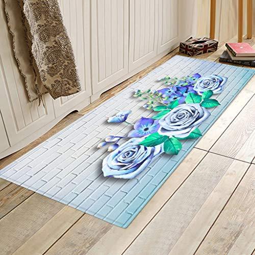 jieGorge Heimtextilien Räumungsverkauf,Teppiche Küchenteppich rutschfeste Teppiche mit kleinem Akzent für den Eingangsbereich und das Schlafzimmer,Fußbodenteppich für Wohnzimmer Dekoration