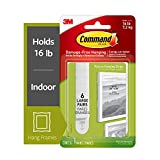 Command Picture & Frame Hanging Strips, Large, White, 6-Strip, 4-Pack (24 Pairs Total)