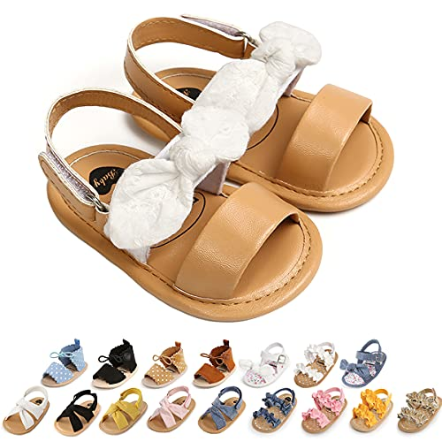 Baby Girls Sandals Soft Summer Baby Mary Jane Flats Bowknot Princess Dress Shoes Infant Newborn Girls Crib Shoes