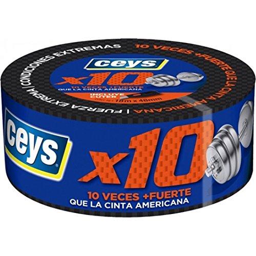 ceys CE507660 Cinta Adhesiva Impermeable, Negro, 48 X 18 MTS