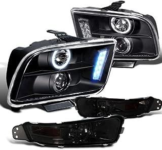 Spec-D Tuning 2LBLHP-MST05GJM-TM Headlight Bumper Light (Black Halo LED Projector Smoked)
