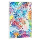 artboxONE Poster mit weißem Rahmen 45x30 cm Städte