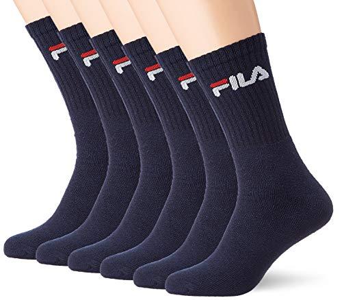 Fila Men Sport Socks 6er-pack F9505z Calcetines, Azul (Navy 321), 43/46 (Talla del fabricante: 43-46) 6 para Hombre