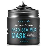 Aprilis Maschera al fango del mar Morto ai carboni attivi, per viso e corpo, ricca di minerali, pulisce a fondo la pelle, rimuove i punti neri, restringe i pori, riduce l'acne