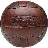 8 de Trèfle 34-1G-002F Ballon de foot Vintage Marron Polyuréthane façon cuir D23,5 cm