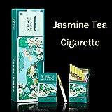 Yunnan Chinese Herbal Tea Cigarettes, Smokeless Fruit Scented Tea Tieguanyin Green Tea Black Tea, Smoke-Free Nicotine Free, Cigarette Substitutes(Jasmine-Thick,1pack)