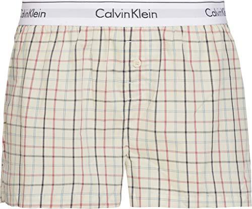 Calvin Klein Damen Sleep Short Schlafanzughose, Stem Plaid Sqc, M