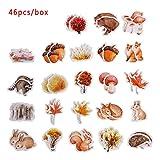 Cooer 46 Stück/Box Fotoalbum Scrapbooking Stationary Unregelmäßige Form Tagebuch Etikett Fall...
