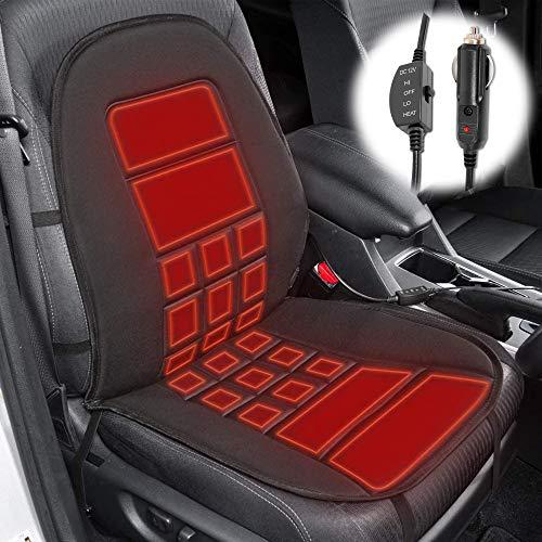 ZXZXC Beheiztes Autositz-Wärmekissen, beheizter 12-V-Sitzbezug für Kraftfahrzeuge mit 2 intelligenten Temperaturreglern, Sitzheizkissen für LKW-Bürostühle (C)