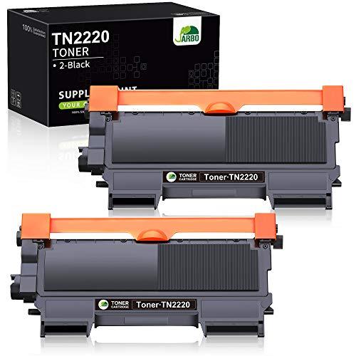 JARBO TN2220 Toner (2x Schwarz) Kompatibel für Brother TN-2220 für Brother FAX-2840 FAX-2845 FAX-2940 HL-2240D HL-2240 HL-2250DN HL-2270DW DCP-7060D DCP-7065DN MFC-7360N MFC-7460DN MFC-7860DW