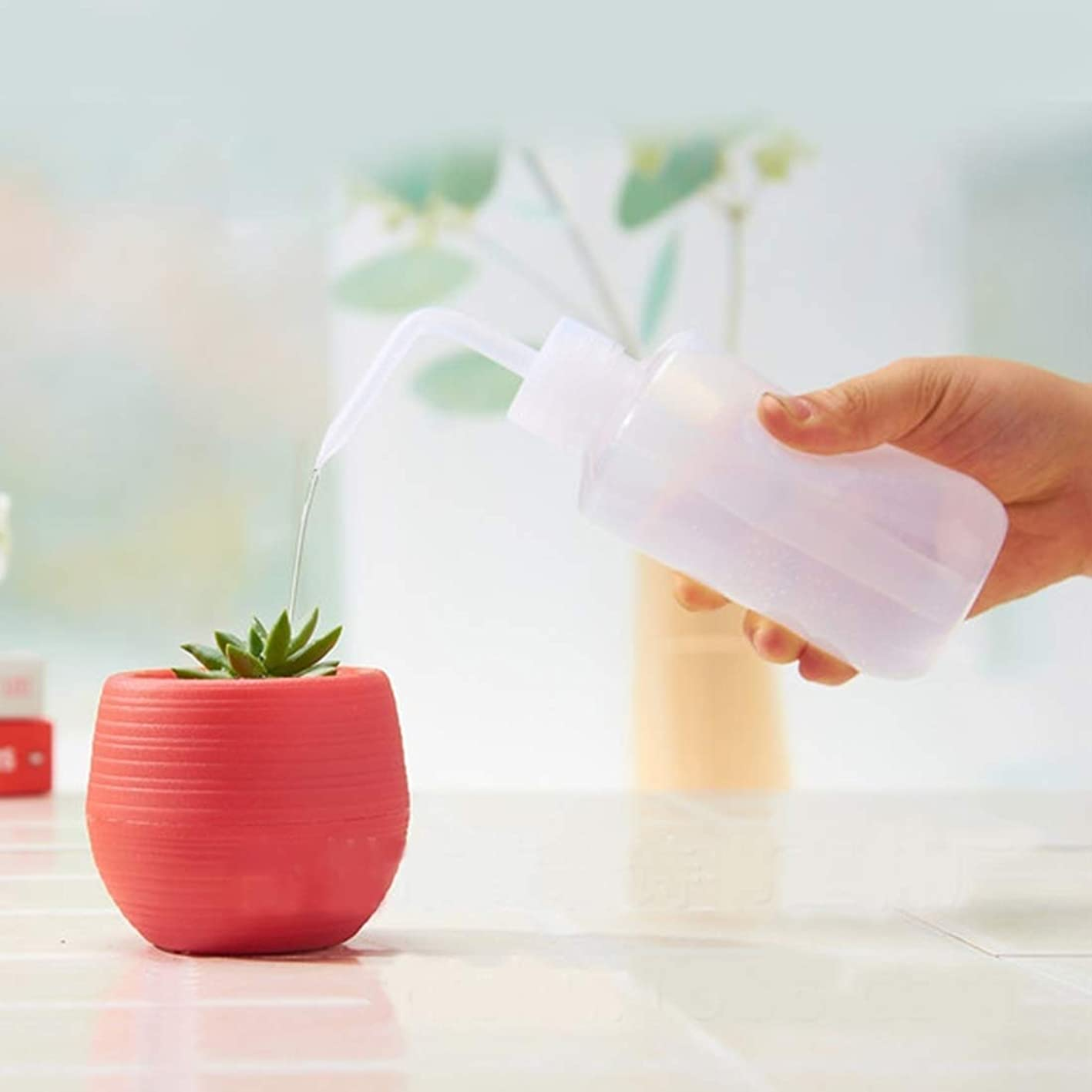 メロドラマすき失うGarden Supplies 曲がった口ドリップボトル工場じょうろ花鉢植えの水まきデバイスガーデニングツールセット、容量:250ミリリットル
