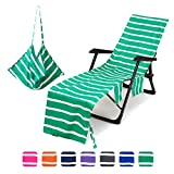 Mingfuxin Funda para silla de playa, toallas de microfibra con bolsillos de...