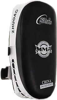 Baoblaze カーブド アーム レッグ パッド UFC MMA ムエ キック ボクシング ストライク フォーカス パンチ シールド ホワイト・ブラック