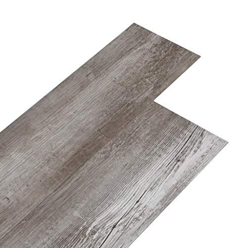 vidaXL PVC Laminat Dielen Vinylboden Vinyl Boden Planken Bodenbelag Fußboden Designboden Dielenboden 5,02m² 2mm Selbstklebend Mattbraun Holz