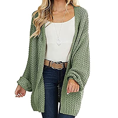 Amazon - 30% Off on Womens Cardigan Sweater Long Sleeve Oversized Open Front Chunky Cable