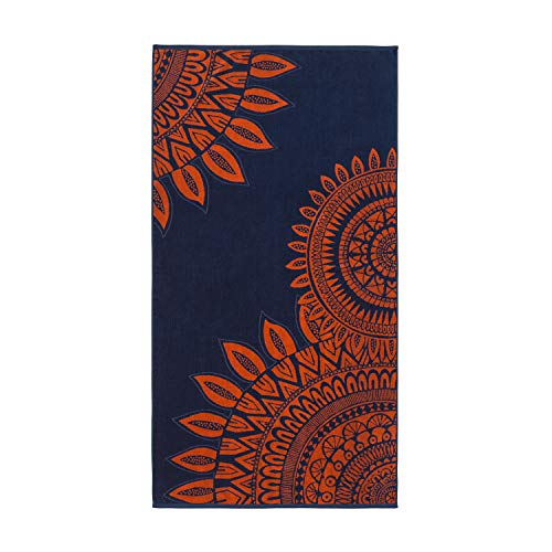 Montse Interiors - Asciugamano da Spiaggia o da Piscina | 100% Cotone Egiziano | Motivo Mandala Moderno | 90x170cm