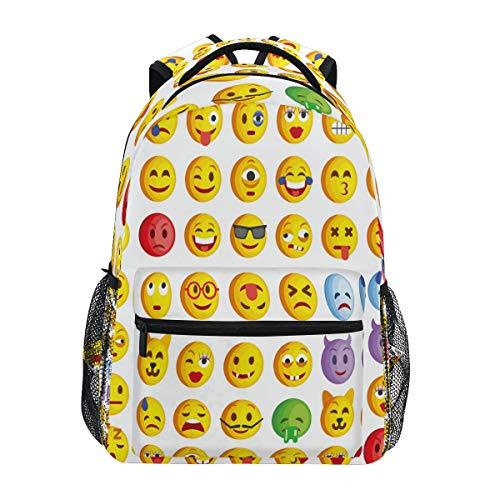 XIXIKO - Mochila con diseño de emoticonos de emoticonos para la escuela, viajes al aire libre, mochila para mujeres, hombres, niños, niñas, deportes, gimnasio, senderismo, camping, mochila