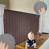 LIUNA Red de seguridad, balcón, patios y barandillas para escaleras, red de seguridad para niños/mascotas/juguetes, tejido de red resistente (color: marrón, tamaño: 2,5 x 10 pies)