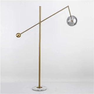 Lampadaire moderne pour salon - Lampe de lecture - Lampe à pied - Lampe de sol nordique réglable - Pied en marbre plaqué b...