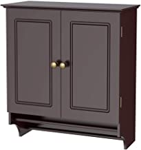 go2buy Wall Mounted Medicine Cabinet Kitchen/Bathroom Wooden Hanging Storage Organizer, Espresso