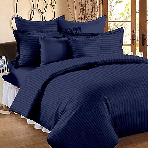 AZ Collection - Juego de sábanas de 900 hilos 20 cm de profundidad, 100 % algodón egipcio de alta calidad (cama doble de Reino Unido, color azul marino)