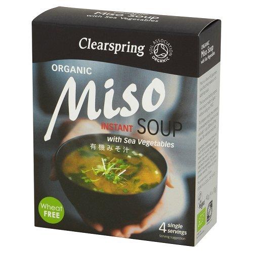 Miso - Clearspring Sopa Con Algas, 40 gr (4 porciones indivi
