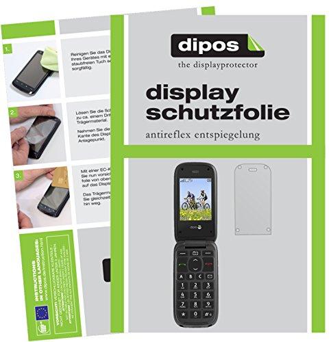dipos I 2X Schutzfolie matt kompatibel mit Doro PhoneEasy 613 Folie Bildschirmschutzfolie