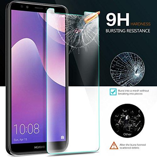 KuGi Huawei Y7 2018 Schutzfolie, 9H Panzerglas Hartglas Glas Display Schutzfolie [Blasenfrei] [HD Ultra] [Anti-Kratzer] Displayschutz Für Huawei Y7 2018 / Prime 2018 Smartphone. Klar [2 Pack] - 5