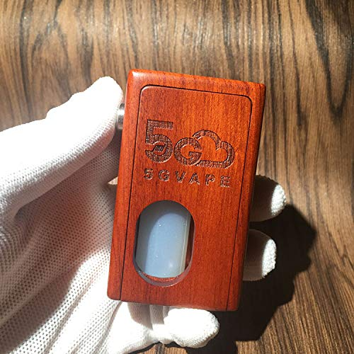 Authentic 5Gvape Supercar BF Squonk 18650 Mechanical Box Mod w/8ml Bottle Walnut (Red-Rosewood)