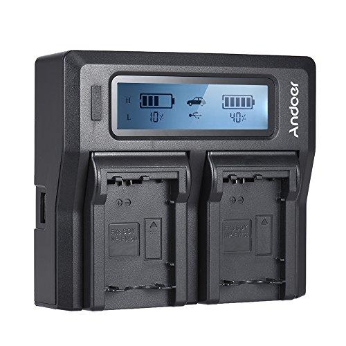 Andoer NP-FW50 NPFW50 デュアル チャンネル デジタルカメラ 充電器 LCDディスプレイ付き Sony α7 α7R α7sII α7II α6500 A6300 α7RII NEXシリーズ用